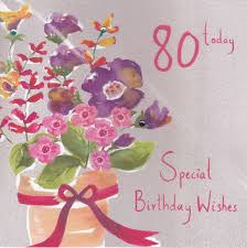 floral 80 today birthday card karenza paperie