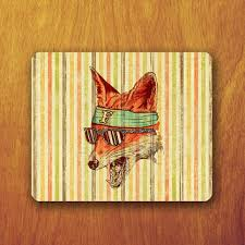 Vintage Desk Pad Funny Fox Painting Vintage Mouse Pad Art From Xongdesign On Etsy