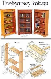 Bookshelves Woodworking Plans by Revolving Danner Inspired Bookcase Woodworking Plan Popular In