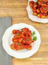 Simple Main Dish - easy oven barbecue chicken beauty and the foodie