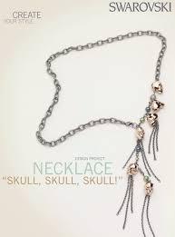 swarovski necklace design images Swarovski skull bead necklace free design and instructions png