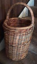 wicker décor baskets with handle ebay