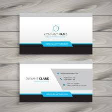 company cards clean business card for company vector design illustration