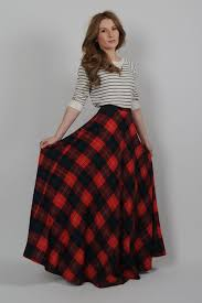 plaid skirt vintage 70s plaid wool high waisted ultra maxi skirt xs