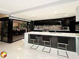 custom home design modern style galley kitchen