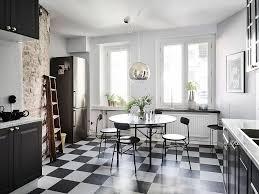 small eat in kitchen design checkered floor breakfast nook dining