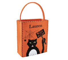 give your kids a black cat trick or treat bag to fill with candy