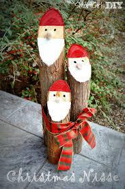 smart girls diy cedar log christmas nisse cute and easy craft