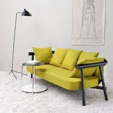 mousse polyuréthane canapé canapé altay dossier et accoudoir en hêtre massif laqué noir ou