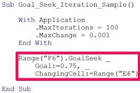 excel goal seek and goalseek vba method tutorial with examples