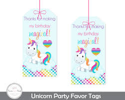 thank you tags unicorn party gift tags unicorn party thank you tags