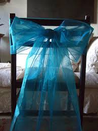 chair bows organza chair bows in turquoise