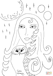woman night coloring page free printable coloring pages
