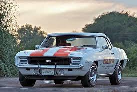 69 camaro pace car spotlight 1969 camaro indy pace car chevy
