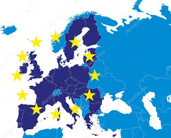 European Union Map European Union Members Map With Croatia U2014 Stock Vector Tomisl Z