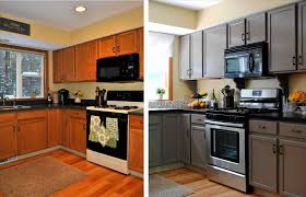 Black Kitchen Cabinet by Painted Black Kitchen Cabinets Before And After Black Kitchen
