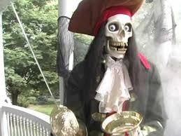 Halloween Props For Sale Grandin Road Animated Halloween Skeleton Pirate Youtube