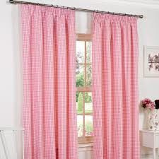 Pink Gingham Curtains Woven Gingham Curtains