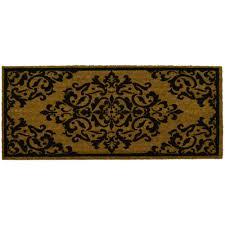 Outdoor Coir Doormats Home Dynamix Fiesta Brown 20 In X 46 In Coir Outdoor Mat 3 Flrs