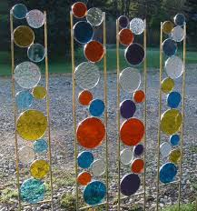 stained glass garden stakes hawe park