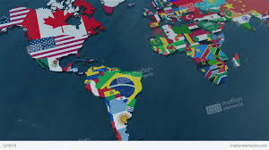 Show World Map by 3d World Map To South America With Clouds Stock Animation 529619