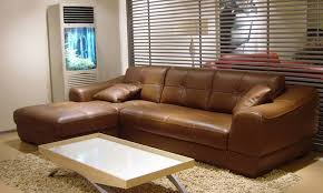 Brown Leather L Shaped Sofa Free Shipping 2013 Modern Design Living Room Furniture Small