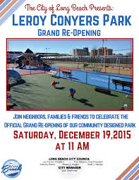 leroy conyers park grand re opening this saturday at 11am news