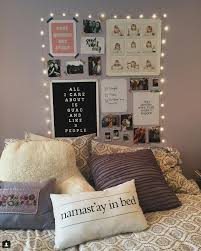 how to decorate dorm room with string lights popsugar home