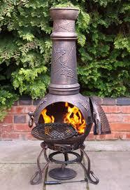 Extra Large Clay Chiminea Extra Large Toledo Bronze Grape Cast Iron Chimenea With Grill