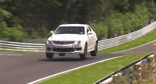minecraft sports car cadillac ats v prototype jumps for joy at the nurburgring