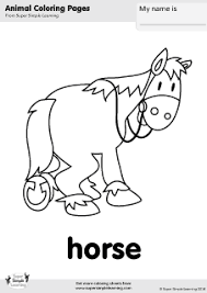 free horse coloring page from super simple learning tons of free