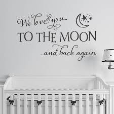 love you to the moon and back quote wall sticker by making love you to the moon and back wall sticker