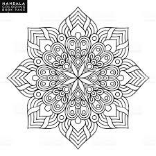 Mystic Ottoman Flower Mandala Vintage Decorative Elements Pattern Vector