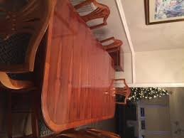 Yew Dining Table And Chairs Second Yew Dining Tables Second Household Furniture