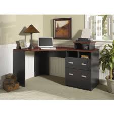 Black Corner Computer Desk With Hutch by Sauder Carson Forge Corner Computer Desk Cherry Walmart Com