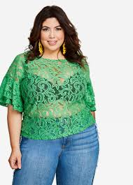 sleeve lace blouse buy bell sleeve lace top medium green tops