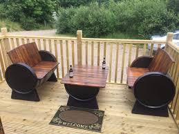Pub Patio Furniture Used Oak Whiskey Barrel Garden Furniture Bar Pub Patio In