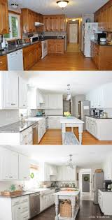 pictures of kitchen designs with oak cabinets how to paint oak cabinets and hide the grain step by step