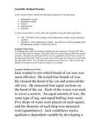 scientific method variables worksheet free worksheets library