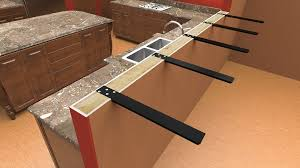 how to attach a countertop to a wall without cabinets installing walnut countertop on knee wall woodweb s cabinet and