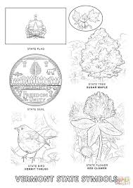 vermont state seal coloring page with flag coloring page eson me