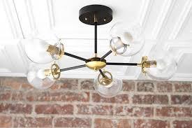 Globe Light Fixtures Globe Lights Black Brass Chandelier Modern Ceiling L