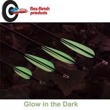 glow in the dark l the archery company flex fletch glow in the dark vanes ffp225