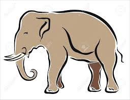 drawing of an asian elephant royalty free cliparts vectors and