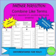 combining like terms with exponents scavenger hunt activity