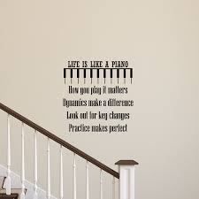 Stairs Quotes by Life Is Like A Piano Wall Quotes Decal Wallquotes Com
