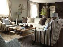 Striped Accent Chair Monochromatic Living Room Traditional Living Room