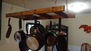 how to make a hanging pot and pan rack youtube