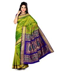 Buy Green Plain Cotton Silk Paithani Is A Sari Made Of Silk And Zari It Is A Plain Weave