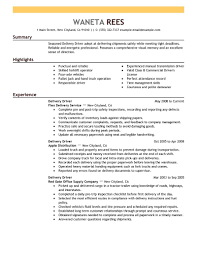 Driver Sample Resume by Sample Resume Driver Job